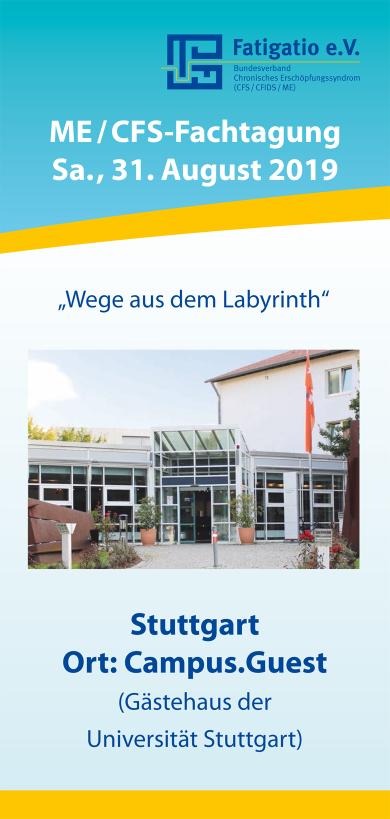 Wickelfalz-Flyer für Fatigatio e.V.